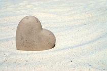 Herz am Strand - Heart on the beach von Thomas Klee