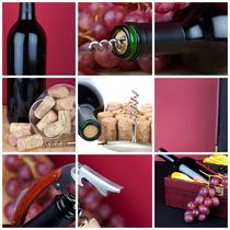 Bilder Collage zum Thema Wein - Photo collage on the theme of wine by Thomas Klee