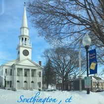 Church On Main St.  In Southington , Ct  At Winter  Scene (c)ByMaryLeeParker15  photograph ,  New England  von Mary Lee Parker