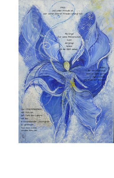 Friedensengel-postkarte
