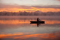 Nature's Reflection with Fisherman von Jim Corwin