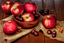 Apples and cherries by Lana Malamatidi