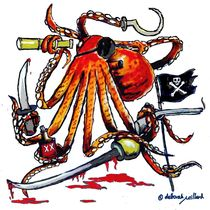 Pirate Octopus von Deborah Willard