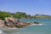 Rocks off Trebah Beach, Cornwall von Rod Johnson