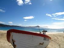 boat on the beach von lj