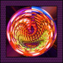 Framed glass spiral by Gaspar Avila