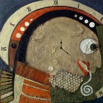 Uhr-Mensch, Mischtechnik auf Leinwand, 50x50, 2015 by Eva Vogt