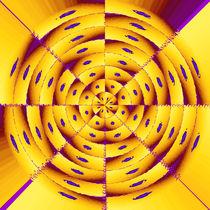 Golden radial abstract von Gaspar Avila
