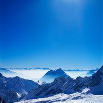 Winter - Alpen.Blick auf Zugspitzplatt und Alpspitze von li-lu