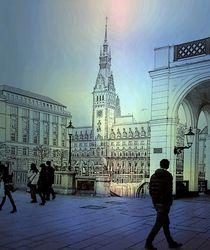 Blick zum Rathaus von Peter Norden