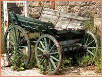 ~ Old wood Cart ~ von Sandra  Vollmann