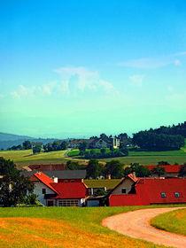 Friedliches Bauernland an einem sonnigen Nachmittag von Patrick Jobst