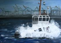 Schlepper im Hamburger Hafen von Christiane Badura