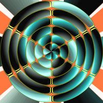 Abstract radial object by Gaspar Avila