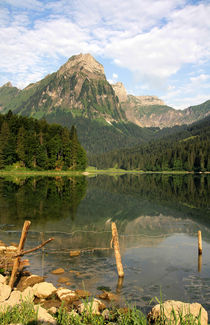 Stiller Bergsee by Bruno Schmidiger