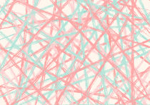 Mint & Coral Lines by decoravie