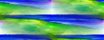 Impression in blau und grün II von Eberhard Schmidt-Dranske