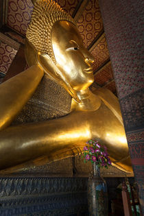 Reclining Buddha in Bangkok by Leighton Collins