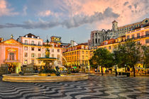 Rossio Square in Lisbon by Michael Abid
