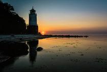 Sonnenuntergang am Leuchtturm Taksensand Fyr by Thomas Ulbricht