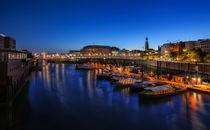 Binnenhafen in Hamburg am Abend von Frank  Jeßen