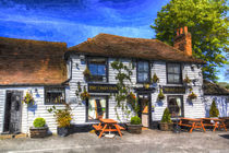 The Theydon Oak Pub Art von David Pyatt