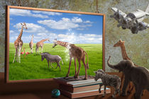 Reservat - Animals walking from toy into realistic picture by paganin