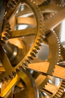 gear of a clockwork of old tower clock by paganin