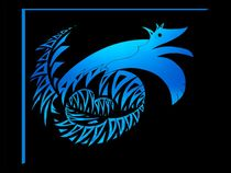 blue dragon Wolf by foryou