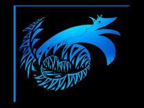 blue dragon Wolf von foryou