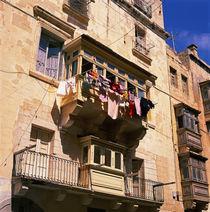 MALTA. Balkone ein traditionelles Symbol von Valletta von li-lu