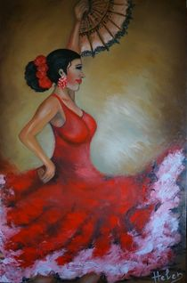 Flamenco dancer von Helen Bellart