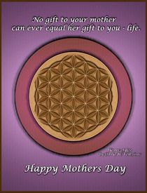 Mother's Day Flower of Life by David Voutsinas