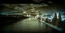 der Neckar in Heilbronn by Manja Opitz