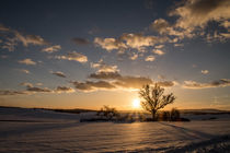 Sonnenuntergang bei Kühndorf von Sebastian Hocke