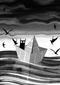 Paper Boat von Andrew  Hitchen