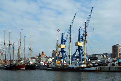 Stadthafenrostockschiffekraene