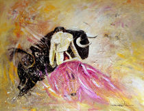 Bullfight 74 von Miki de Goodaboom
