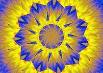 Mandala in gelb und blau von Karin Nessika