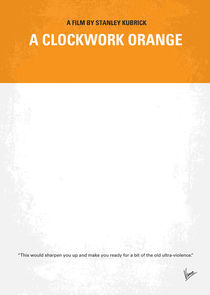 No002 My A Clockwork Orange minimal movie poster von chungkong
