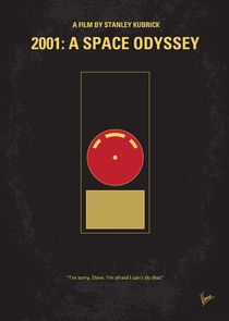 No003 My 2001 A space odyssey minimal movie poster von chungkong