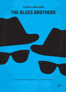 No012 My Blues brothers minimal movie poster von chungkong