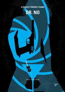 No024 My Dr No James Bond minimal movie poster von chungkong