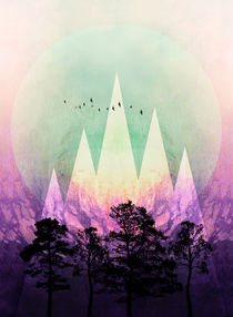 TREES under MAGIC MOUNTAINS VII von Pia Schneider