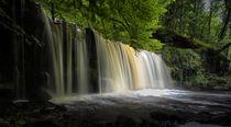 Sgwd Ddwli Uchaf waterfalls South Wales by Leighton Collins