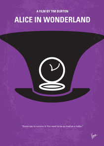 No140 My Alice in Wonderland minimal movie poster von chungkong