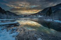 Sunrise at winter Zelenci II by Bor Rojnik