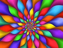Psychedelic Rainbow Petals  von Kitty Bitty