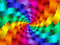 Psychedelic Rainbow Spiral  von Kitty Bitty