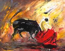 Bullfighting In Shadow And Light von Miki de Goodaboom